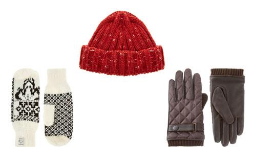 Варежки French Connection, шапка Asos, кожаные перчатки Ted Baker