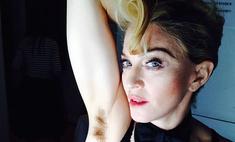 Мадонна не удаляет волосы из подмышек