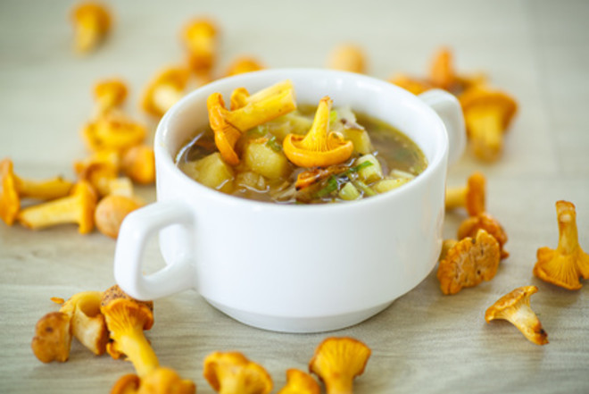 лисички, рецепты, суп с лисичками