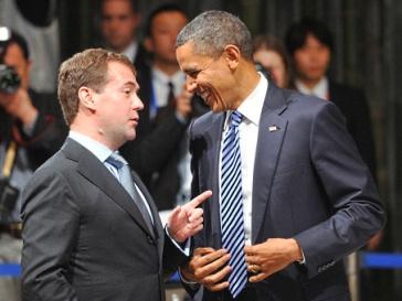 Дмитрий Медведев и Барак Обама в Японии