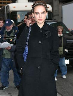 Натали Портман попути на теле-шоу Дэвида Леттермана, 2008 год