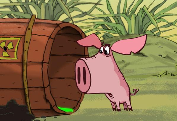 кадр из мультфильма «Поросенок. Няня»