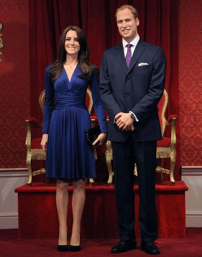Восковые копии Кейт Миддлтон и принца Уильяма