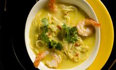 Суп-лапша с креветками