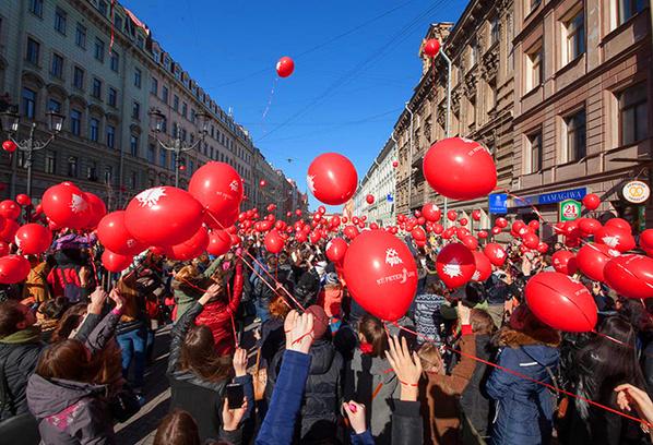 Флешмоб Сердце города Петербург, фото