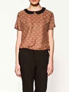 Блузка Zara с контрастным воротником