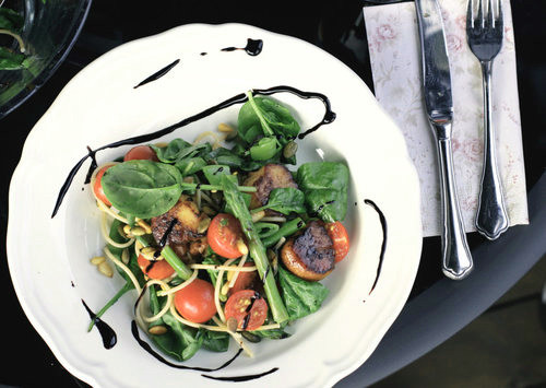 Салат с гребешком