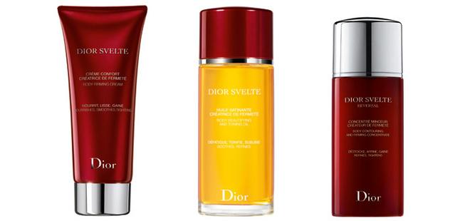 Крем-Комфорт, Атласное Масло и Концентрат-Стройность – новая гамма по уходу за телом Dior Svelte.