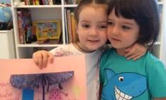 Дочь Киркорова прочитала стих на праздновании 4-летия брата