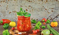 Овощной салат в томате на зиму