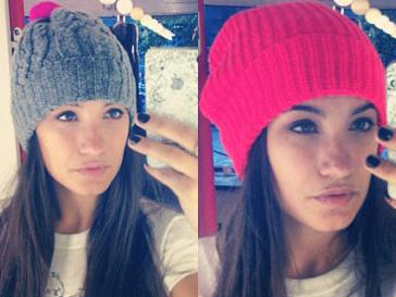 Виктория Дайнеко пдбирает к осени стильную и яркую шапку