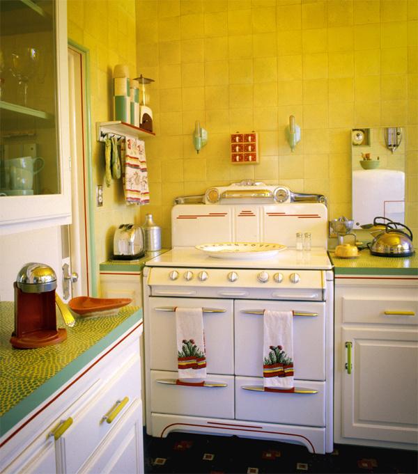 Желтые цвета на кухне