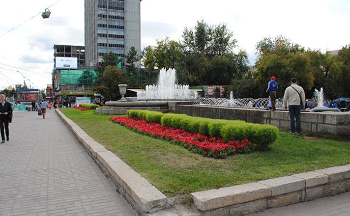 Места для прогулок в Новосибирске Первомайский сквер
