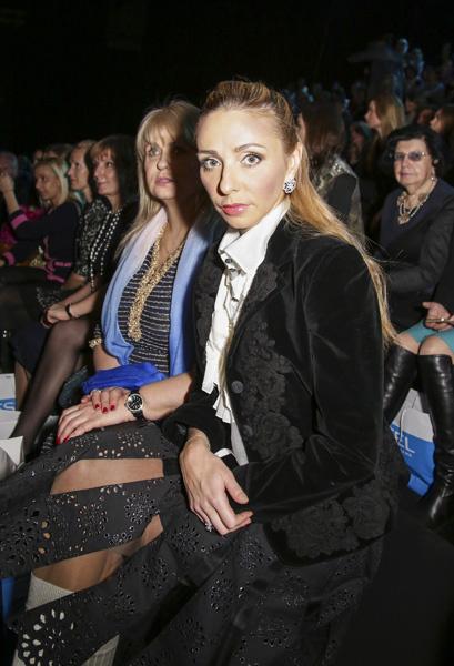 Татьяна Навка на показе Валентина Юдашкина