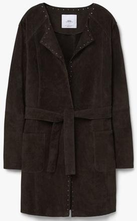 Замшевое пальто Mango, фото
