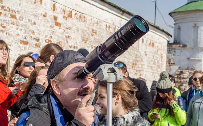 Как в Рязани наблюдали за солнечным затмением
