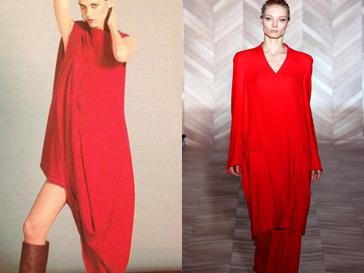 Слева - платье Maison Martin Margiela для H&M; справа - костюм из коллекции Maison Martin Margiela сезона осень-зима 2012/13