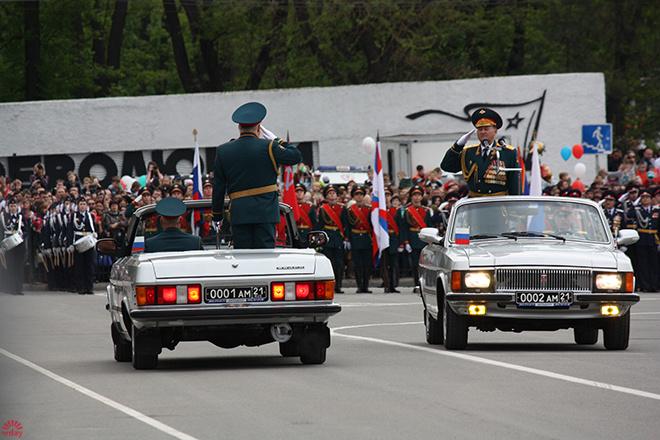 В Ростове прошел парад, посвященный Великой Победе