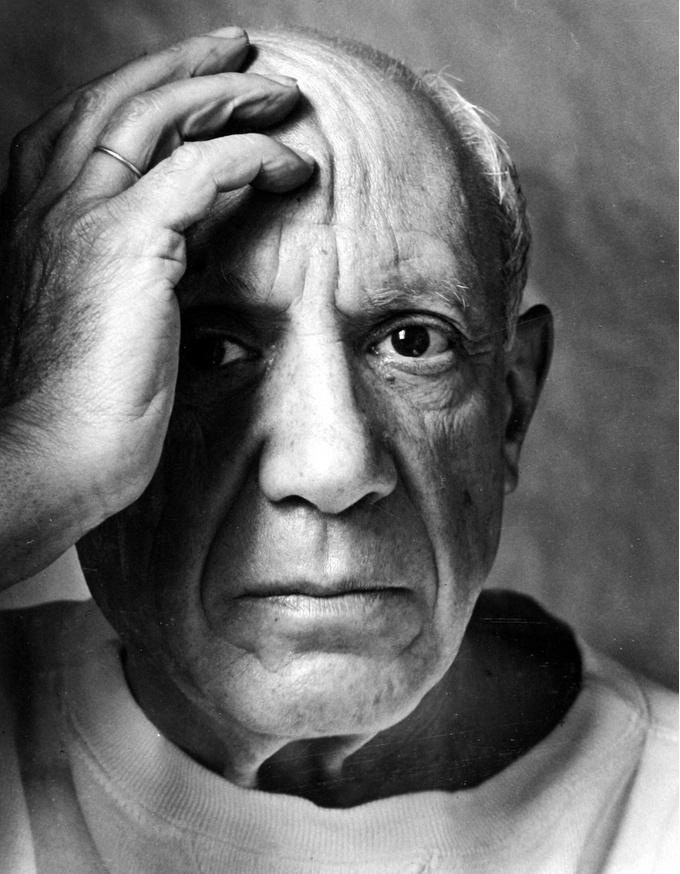 Арнольд Ньюман. Пабло Пикассо, Валлорис, Франция, 1954