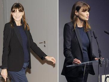 Карла Бруни, Николя Саркози, беременность
