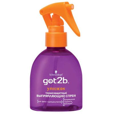 Термозащитный выпрямляющий спрей для волос Schwarzkopf Got2b «Утюжок»