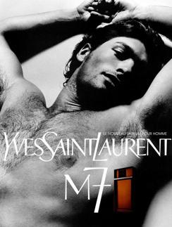 Современное рекламное фото аромата Yves Saint Laurent M7