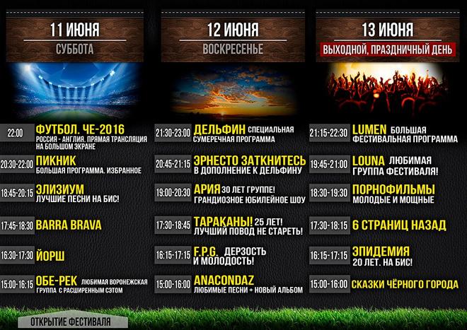 рок-фестиваль «Чайка-2016» в Воронеже