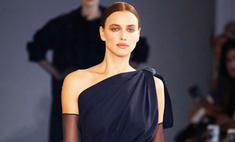 Ирина Шейк показала роскошный образ на дефиле Max Mara