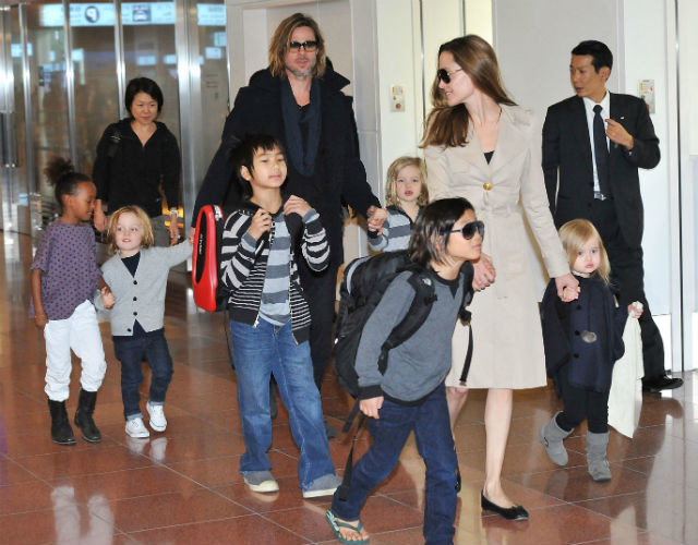 Брэд Питт, Анджелина Джоли и их шестеро детей
