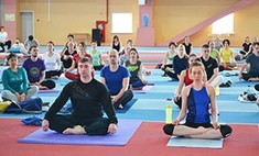 Йога-марафон прошел в Иркутске