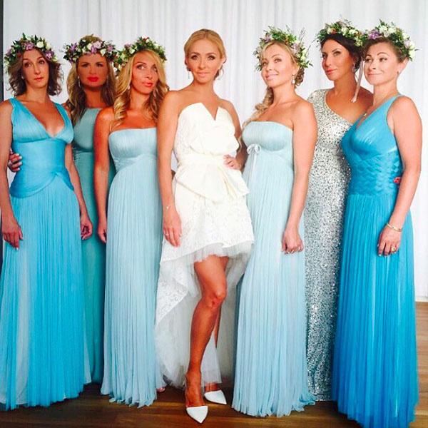 Татьяна Навка с подружками невесты фото
