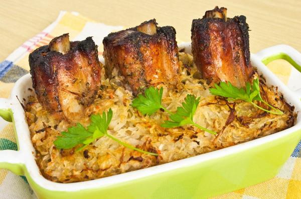 Рецепт капусты со свининой