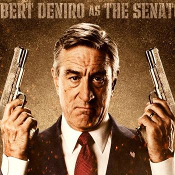 Роберт Де Ниро в фильме «Мачете» играет сенатора Маклфалина.