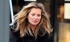 Кейт Мосс вышла на улицу без макияжа