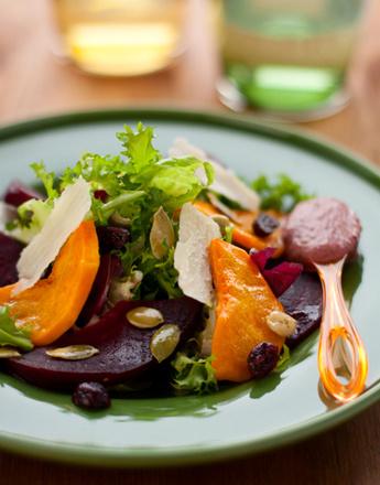 Рецепт теплого салата из свеклы и тыквы