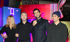 Ургант и Светлаков на премьере «Елки-2»