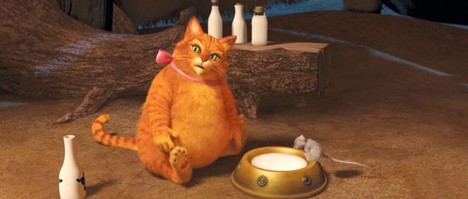 Самые заметные трансформации к четвертой серии происходят с котом – он больше не шустрый и отважный Кот в сапогах, а располневший и вялый лентяй. И все – от хорошей жизни!
