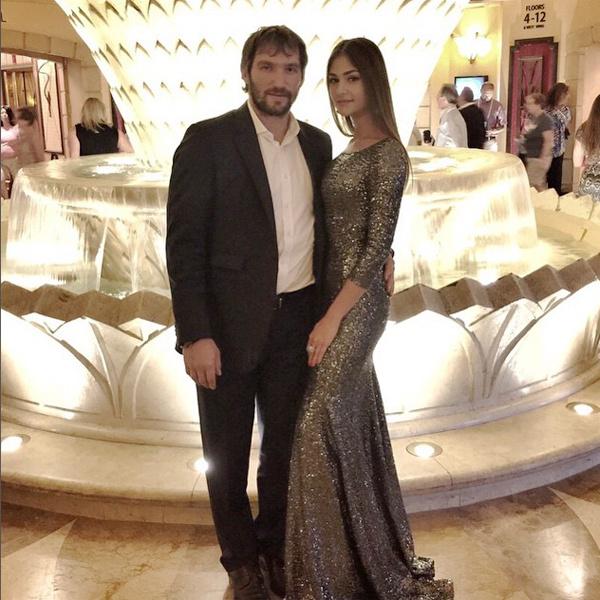 Александр Овечкин и Анастасия Шубская, фото
