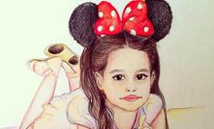 Поклонники Ксении Бородиной рисуют портреты ее дочери