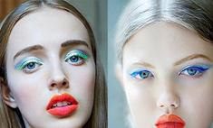 Dior: зеленая тушь и синие тени снова в моде
