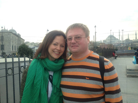 Ольга с мужем, фото