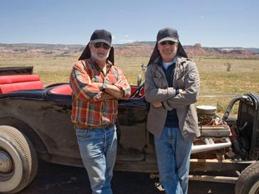 Спилберг и Лукас на съемках фильма «Индиана Джонс и Королевство хрустального черепа»
