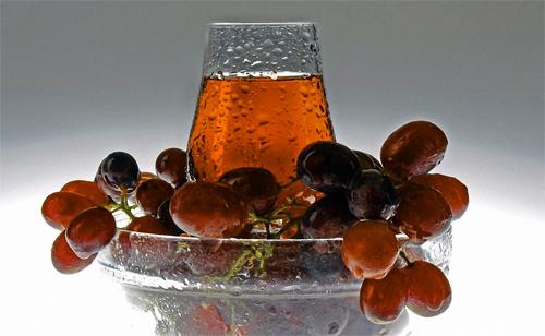 Чайный коктейль с виноградным соком