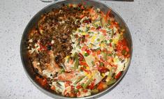 Семга запеченная с овощами