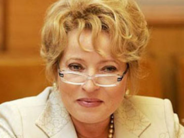Валентина Матвиенко назначена спикером Совета Федерации