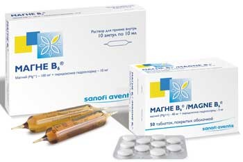 Эффективно справиться с магниевым дефицитом помогает французский препарат Магне В6