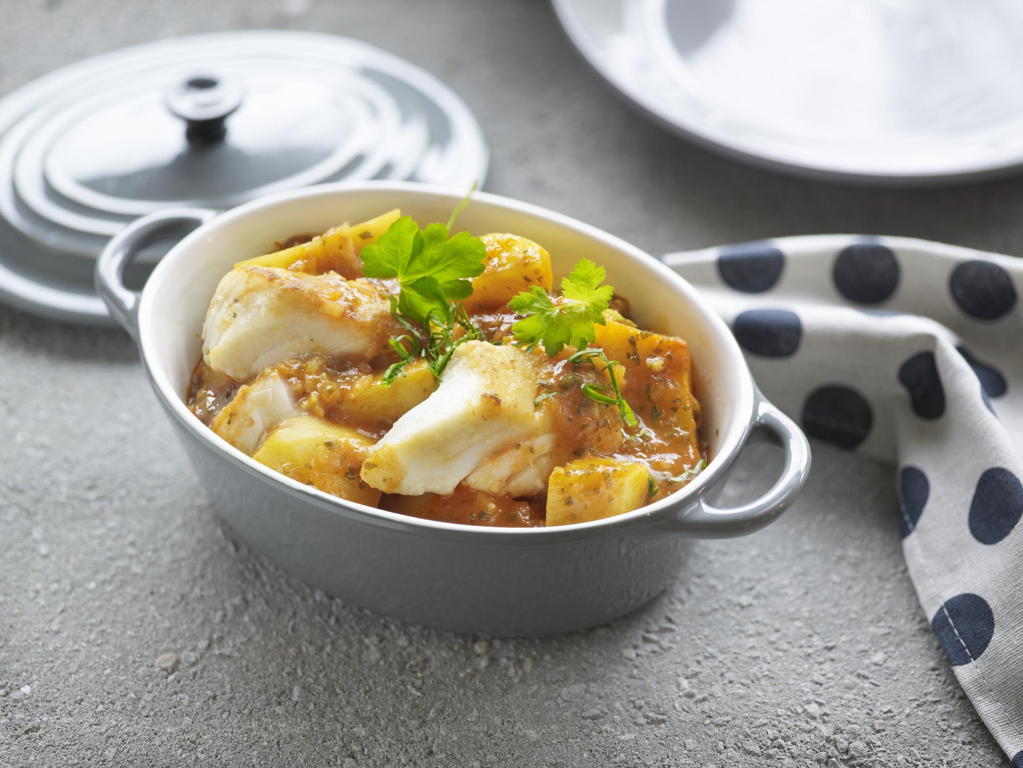 стейки трески с картошкой в духовке рецепты с фото