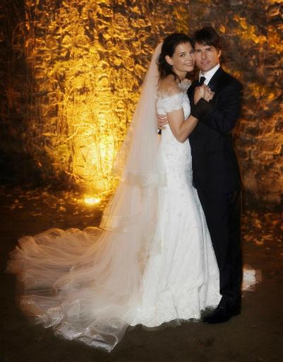 Свадьба Тома Круза (Tom Cruise) и Кэти Холмс (Katie Holmes) в 2006 году