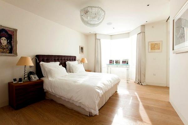 Интерьер золотой спальни