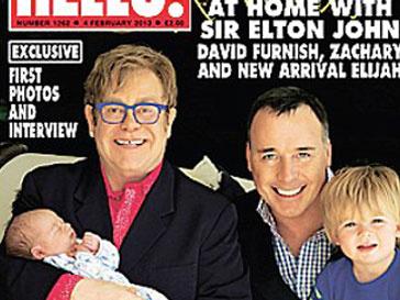 Элтон Джон (Elton John) и Дэвид Ферниш (David Fernish) с сыновьями Закари и Элайджа